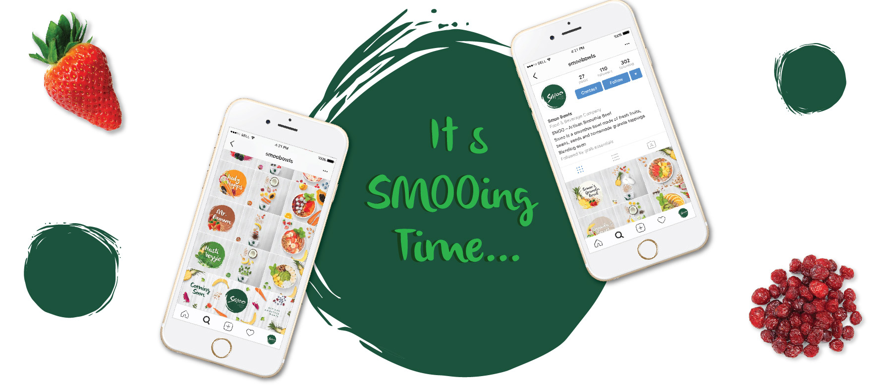Smoo bowls social Media Management by Grab Essentials