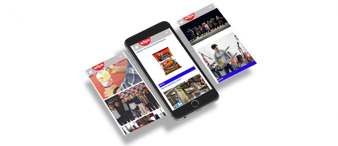 Nissin Corporate Website by Grab Essentials