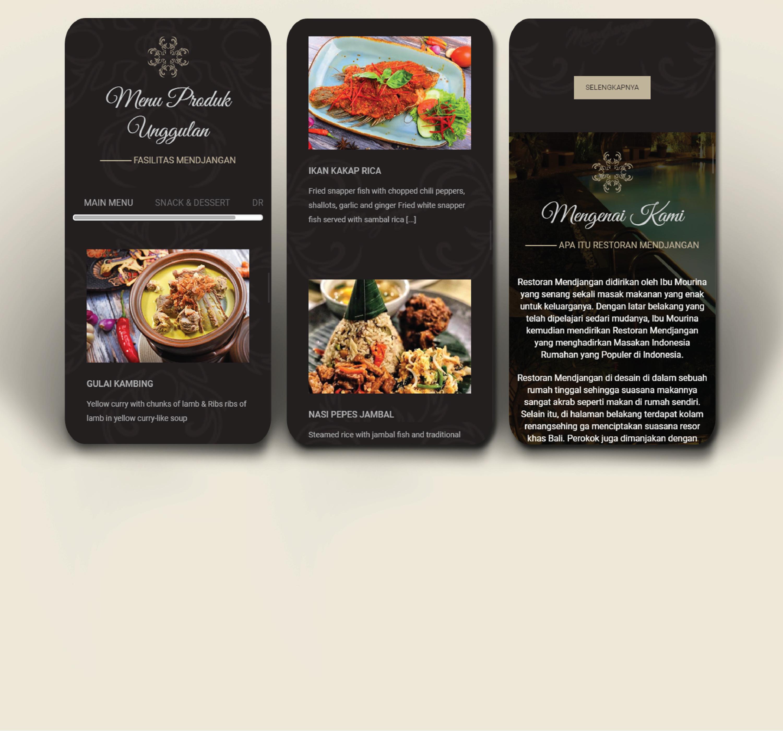 menu produk unggulan restoran